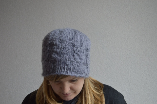 Lavender wool Owls Hat