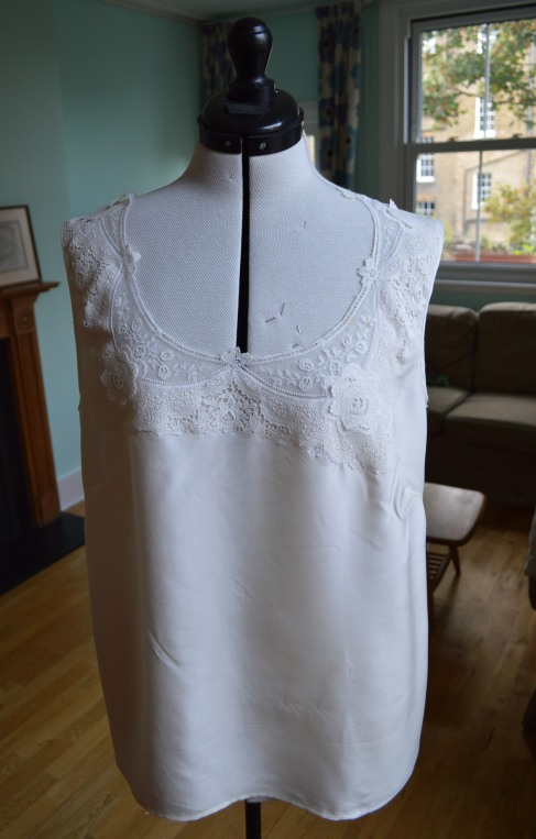 Lace Banksia, Silk and Lace Top