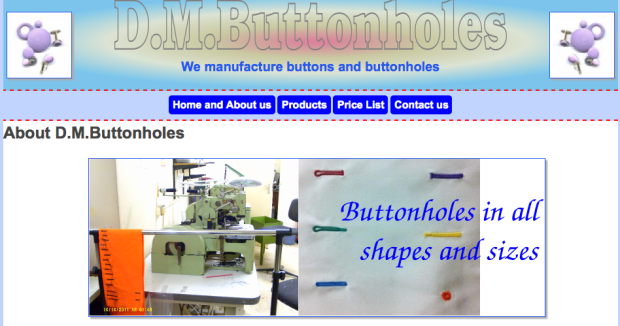DM Buttons, Tailoring Haberdashery supplies London