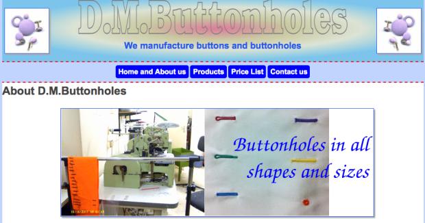 DM Buttons, Tailoring Haberdashery supplies London