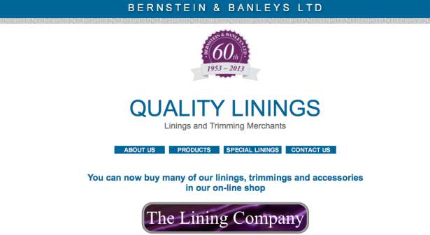 Bernstein & Banley, Haberdashery, Tailoring supplies, London